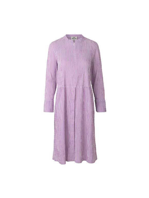 Mads Nørgaard - Crinckle pop dupina kjole, purple/white