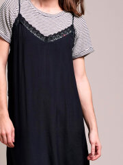 Lollys Laundry - Beatrice Strap Dress - Washed Black