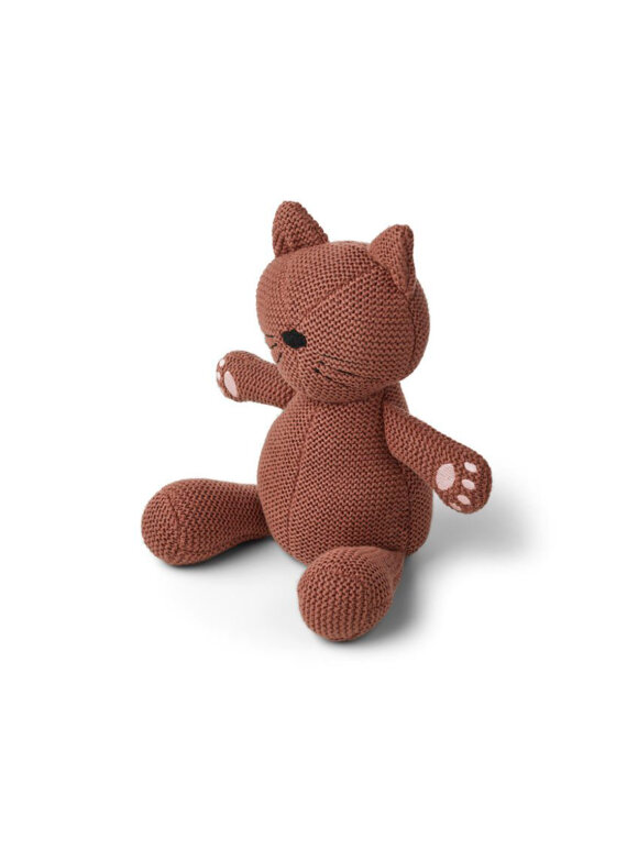 Liewood - Missy Strikket Bamse - Cat Dark Rose