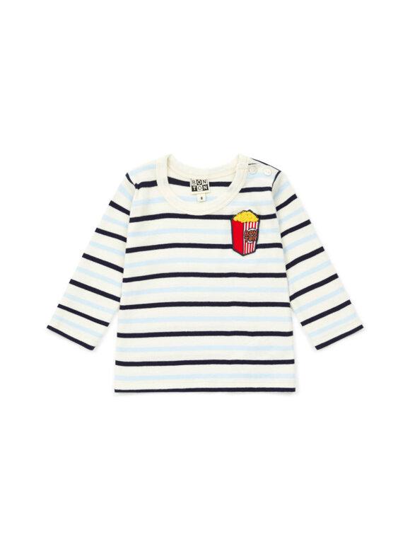 Bonton - Baby langærmet t-shirt - Stribet