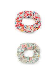Bonton - Baby Scruchie 2 pak - Blomstret, 2 farvevarianter