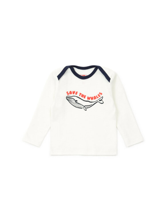 Bonton - Baby Langærmet T-shirt - Hval