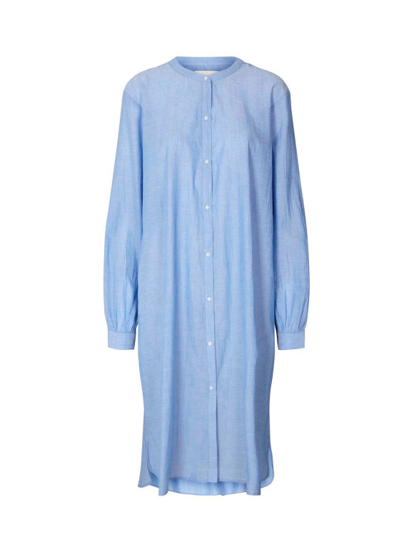Lollys Laundry - Basic shirt dress - Dusty Blue