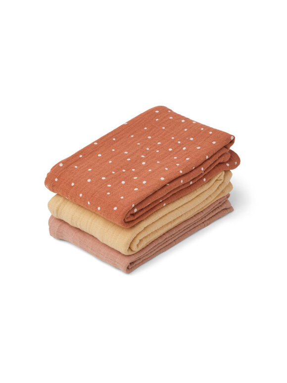 Liewood - Line Stofble - 3-pack, Confetti Terracotta mix