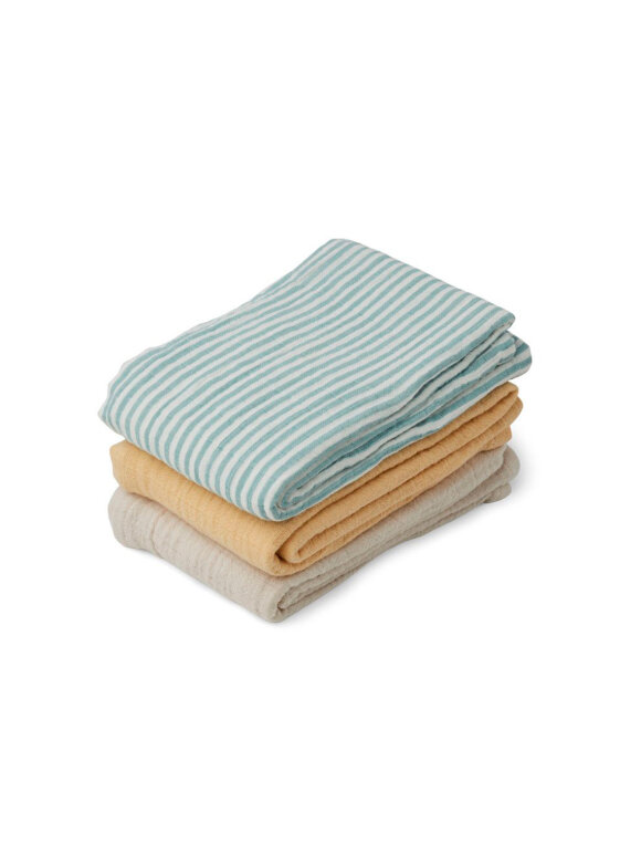 Liewood - Line Stofble - 3-pack, Blue Stripe mix