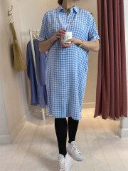 Kokoon - Eliza shirt dress - blue check