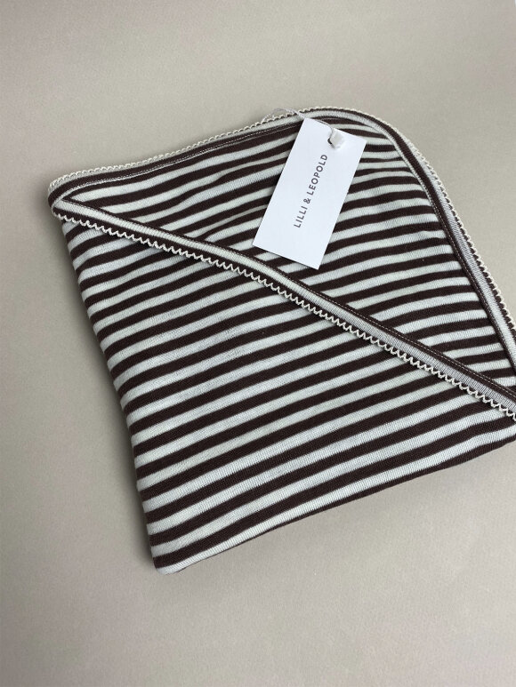 Lilli & Leopold - Baby tæppe i merino uld - stripes