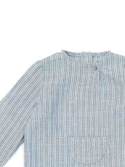 Bonton - Baby skjorte blue stripes