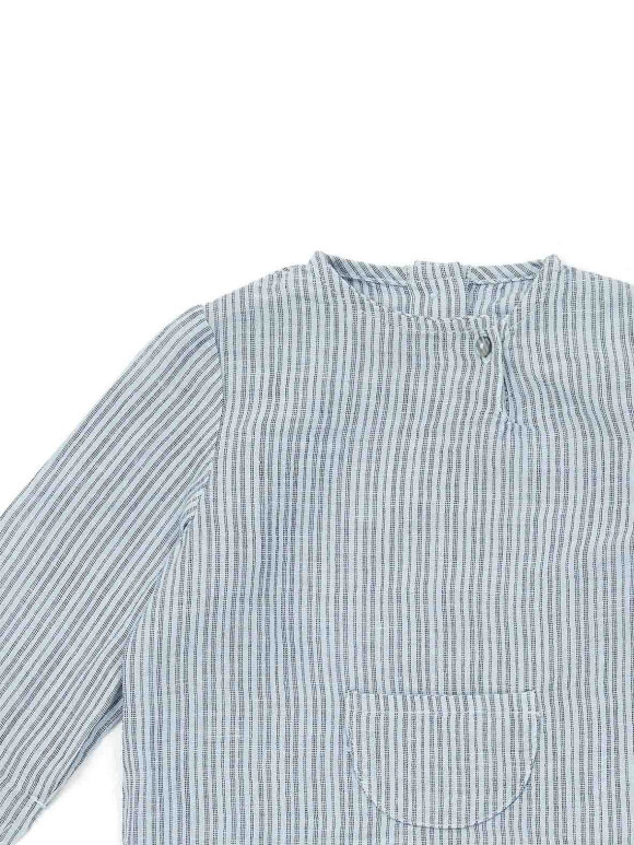 Bonton - Baby skjorte blue stripes