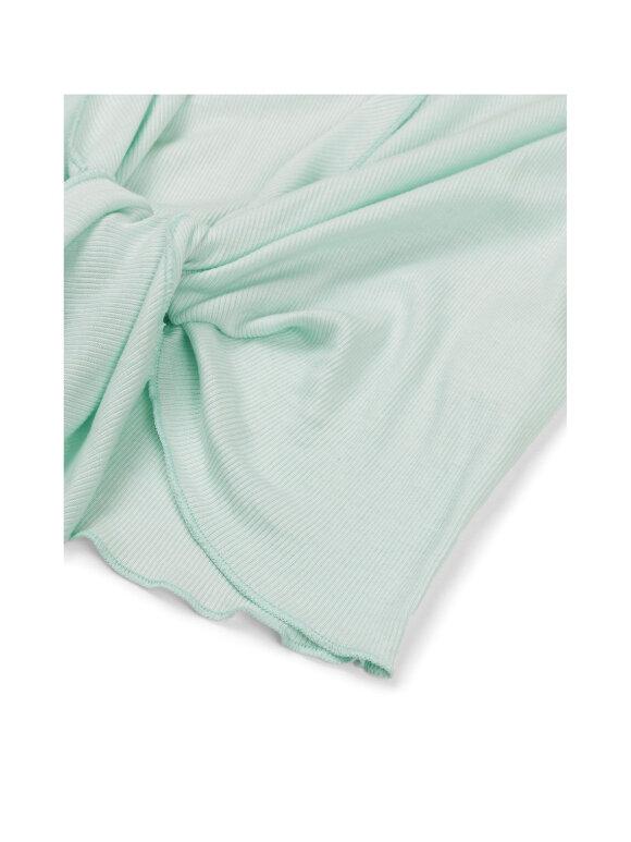 Mads Nørgaard - Rib Blauna wrap top, Pastel Green