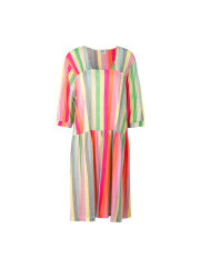 Mads Nørgaard - Linen Stripe Dippa kjole, Multi