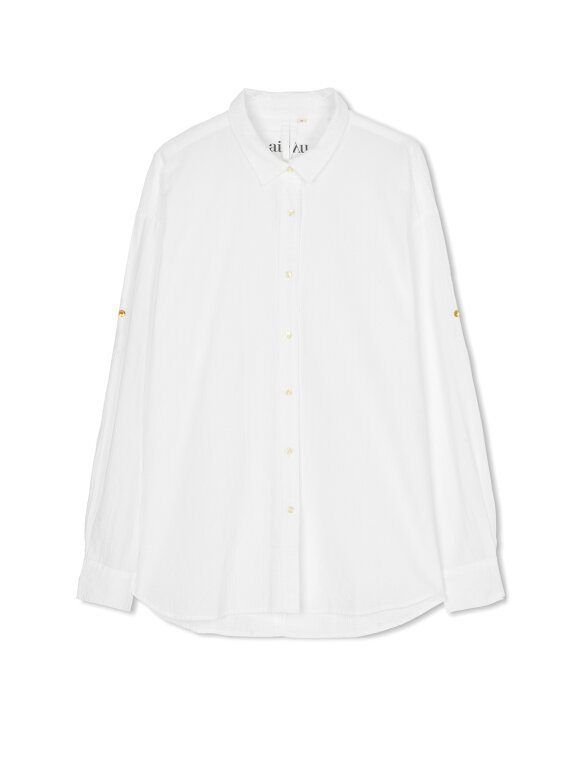 AIAYU - Shirt Seersucker - White