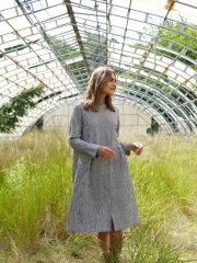 Mads Nørgaard - Crinckle Pop Dupina kjole, grey/White