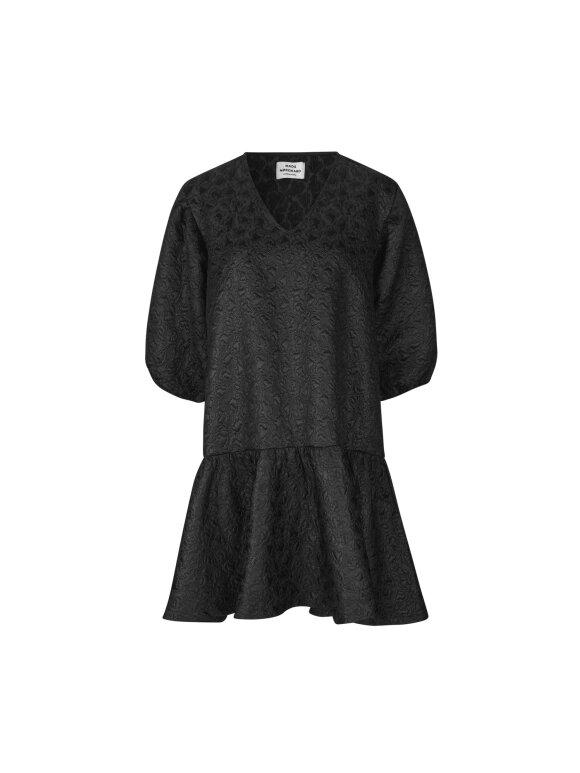 Mads Nørgaard - Dreamy Jaquard Destilla kjole, Black