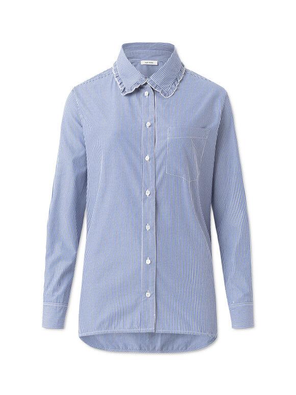 Nué Notes - Elin Shirt blue/white stripes