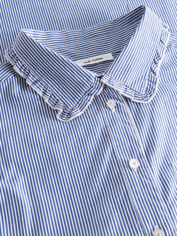 Nué Notes - Elin Shirt blue/white stripes