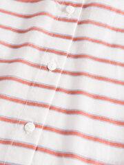Nué Notes - Aline shirt red/white stripes