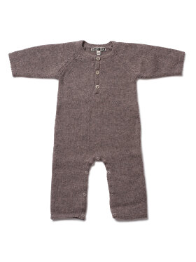 Bonton - Baby knit jumpsuit, biscuit brown