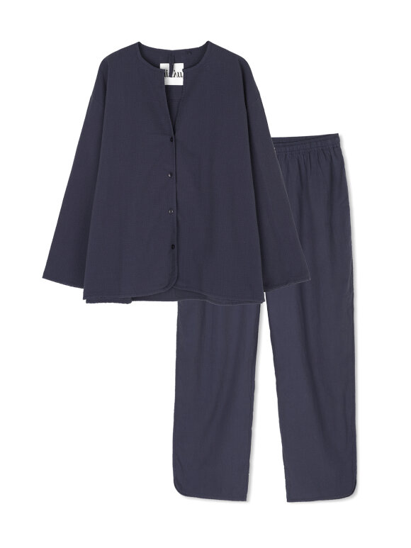 AIAYU - Pyjamas Seersucker, Navy