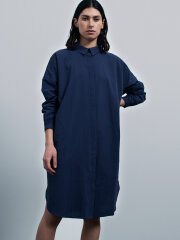 AIAYU - Shirtdress seersucker navy