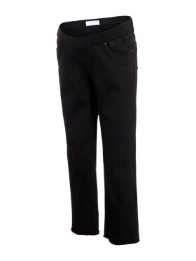 Mamalicious - Marbella Raw edge Mom Jeans - Black Denim