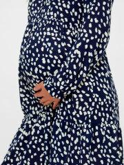 Mamalicious - Glomma shirt dress navy/white