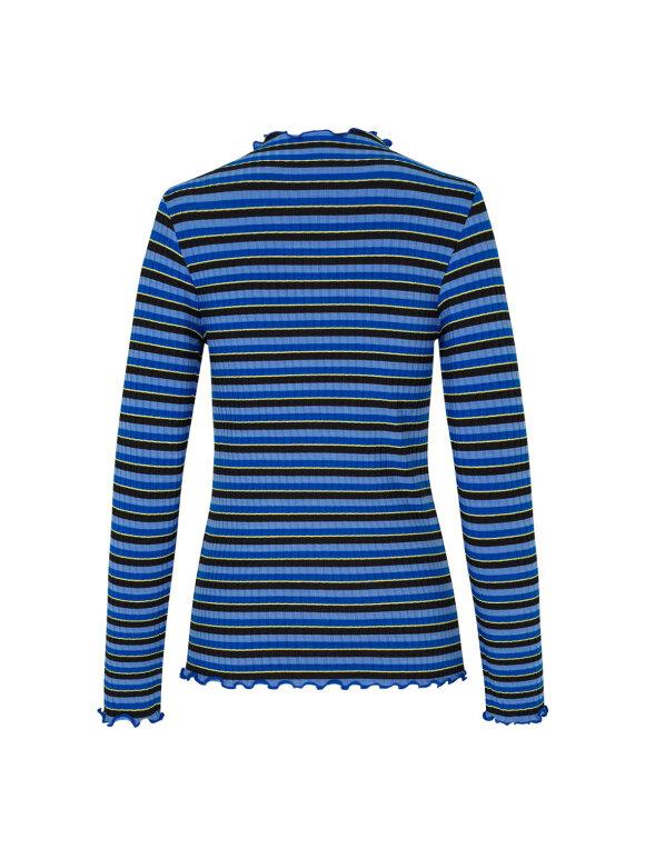 Mads Nørgaard - Sparkle Stripe Trutte bluse, Blue Multi