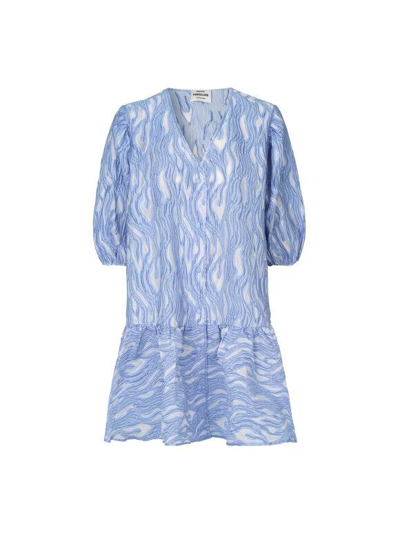 Mads Nørgaard - Icy Jacquard Decimina kjole, Blue Violette