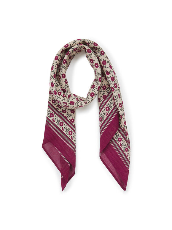 Bonton - Blomstret tørklæde,
