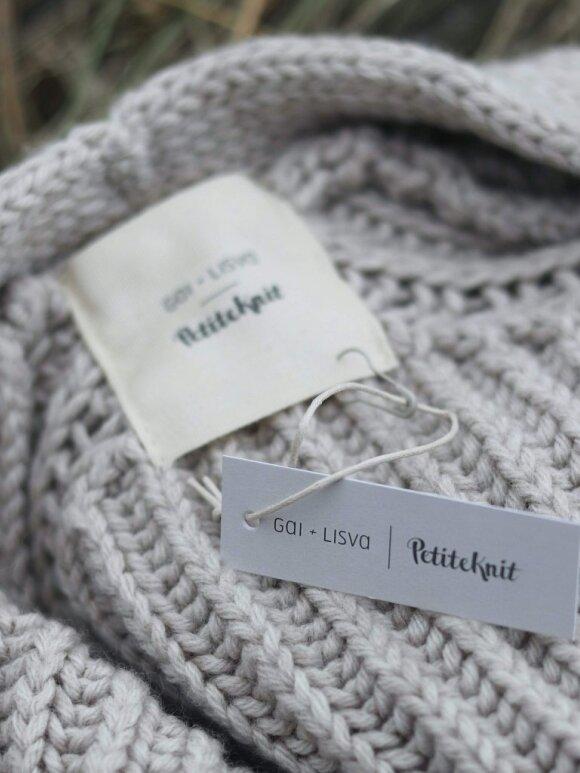 Gai+Lisva - November jacket x Petite Knit nougat melange