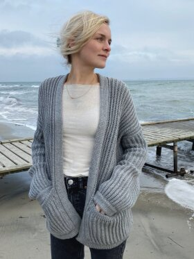 Gai+Lisva - November jacket x Petite Knit grey melange