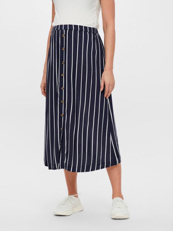 Mamalicious - Sinem midi skirt navy/white