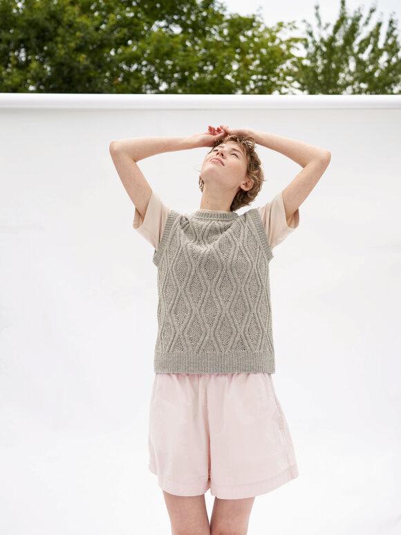 AIAYU - Lulu Poplin shorts, Pale Rose