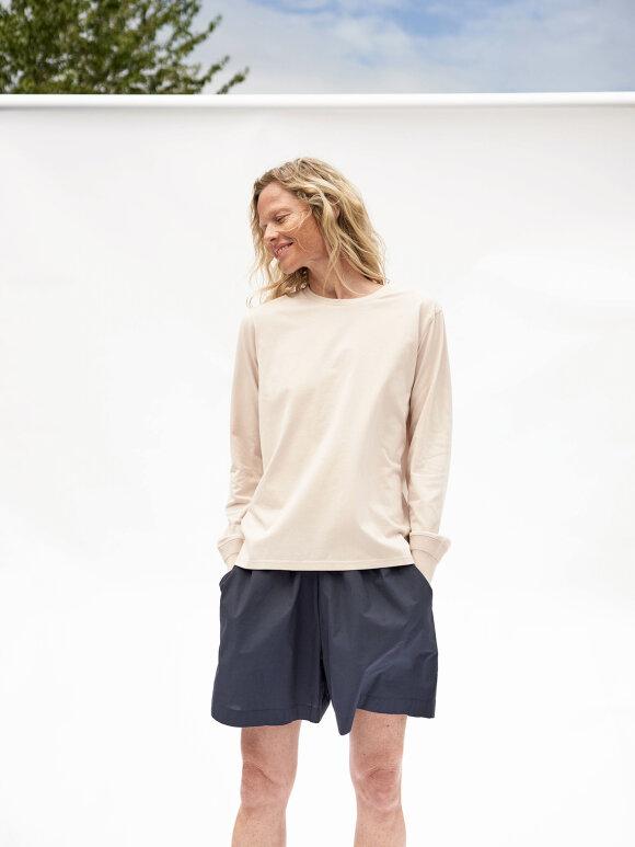AIAYU - Lulu Poplin shorts, Navy