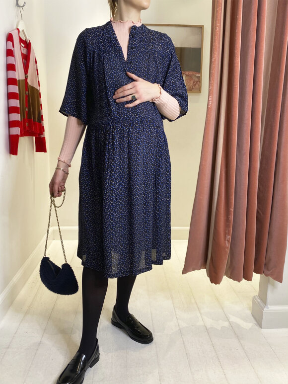Nué Notes - Henri dress black/blue