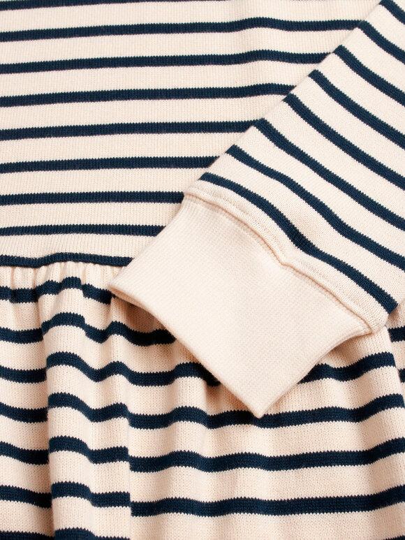 Mads Nørgaard - Bretagne Organic Drekka kjole, Ecru/Navy