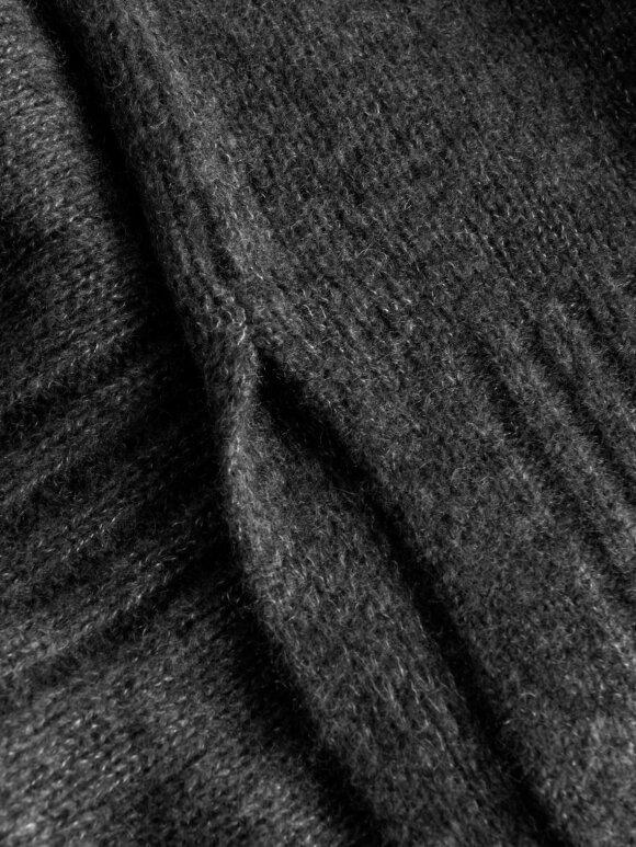 Rue De Tokyo - Kiki Oversize Strik, Dark Grey Melange