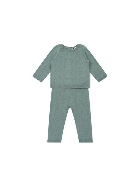 Bonton - Baby sæt strik - Grøn
