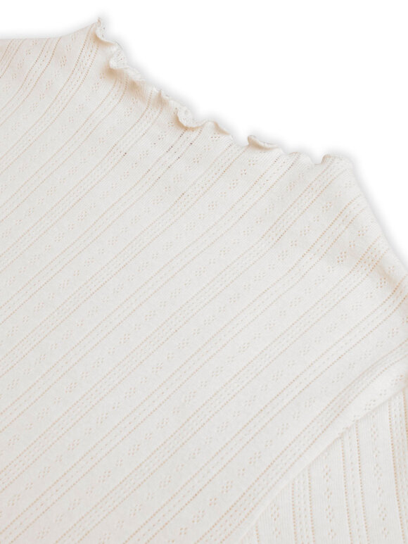 Mads Nørgaard - Pointella Trutte bluse - Off White