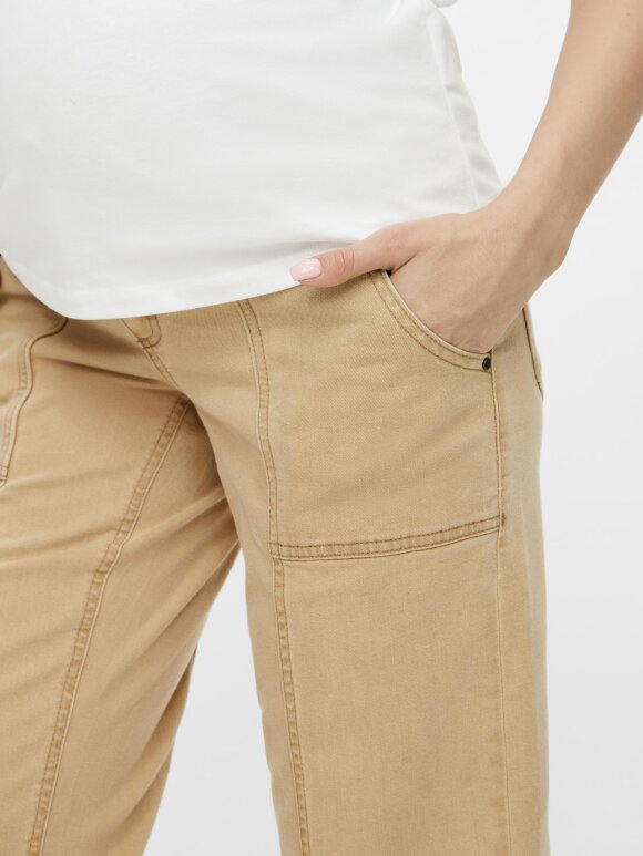 Mamalicious - Stanford Cropped Cargo Jeans