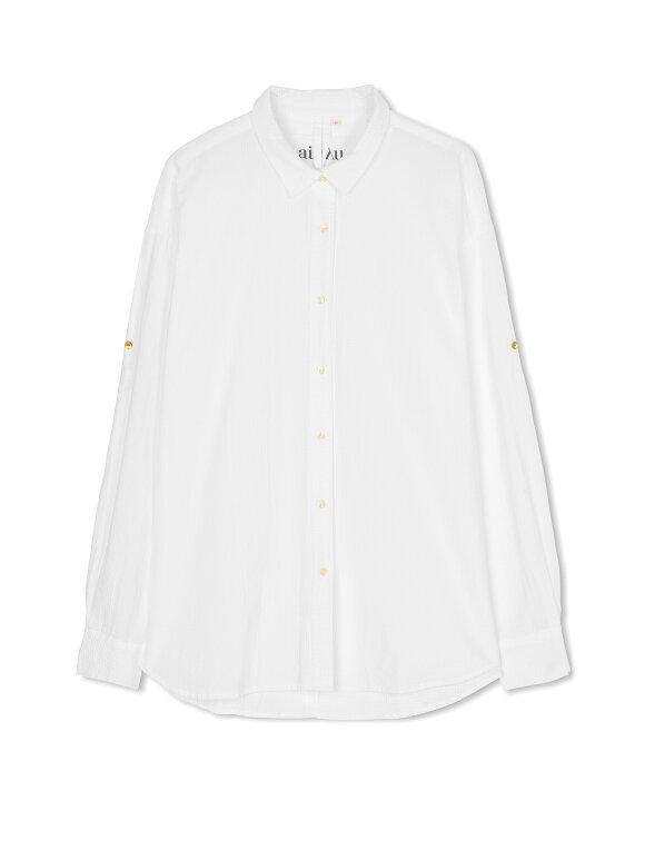 AIAYU - Shirt Seersucker - White