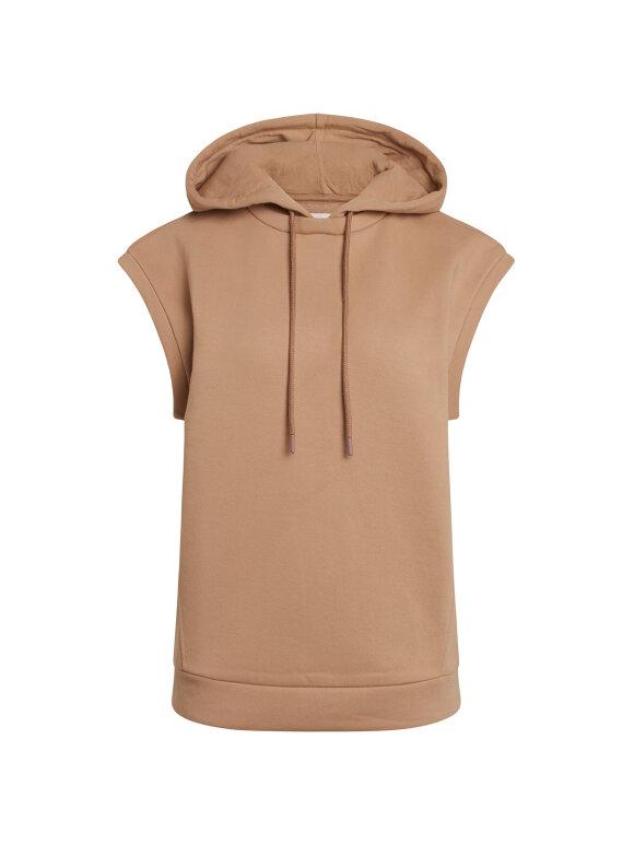 Mads Nørgaard - Eco Bold hoodie Sweat vest, Warm Beige