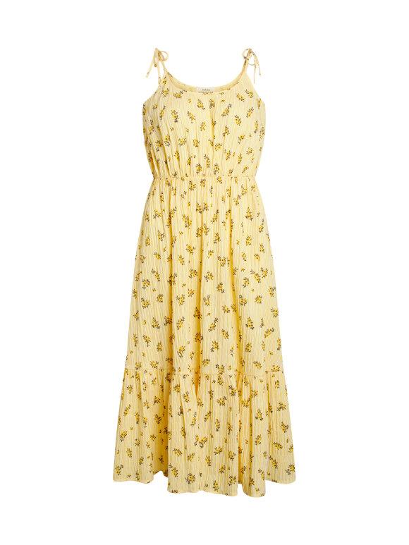 Mads Nørgaard - Crinkle Pop Delfina strop kjole, Sunny Flower