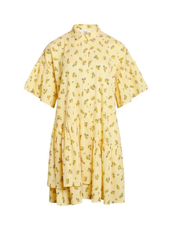 Mads Nørgaard - Crinkle Pop Darlene skjortekjole, Sunny Flower