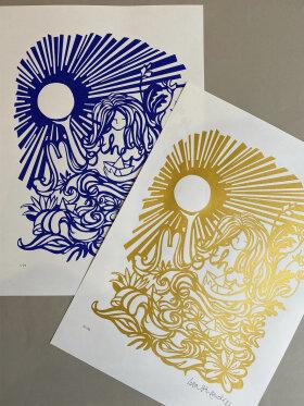 Enula Studio - Lisa Strøander x Mother serigrafi tryk