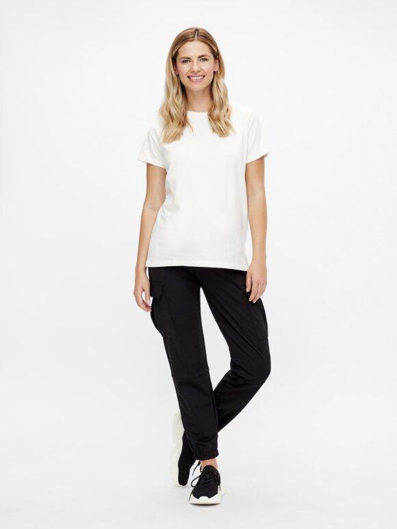 Mamalicious - Sia Jersey Boxy t-shirt, Hvid