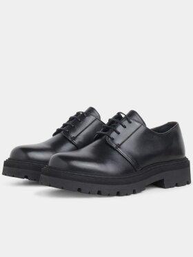 Garment Project - Derby sort læder sko