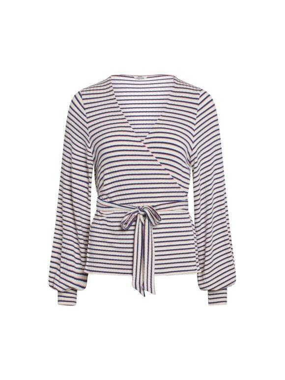 Mads Nørgaard - 5x5 stripe billie wrap bluse