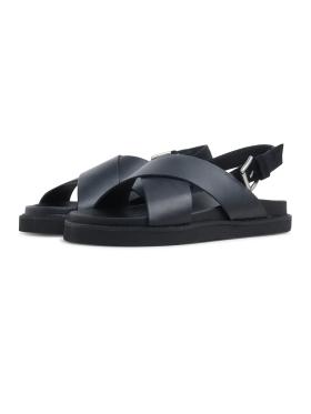 Garment Project - Yodo black leather sandal
