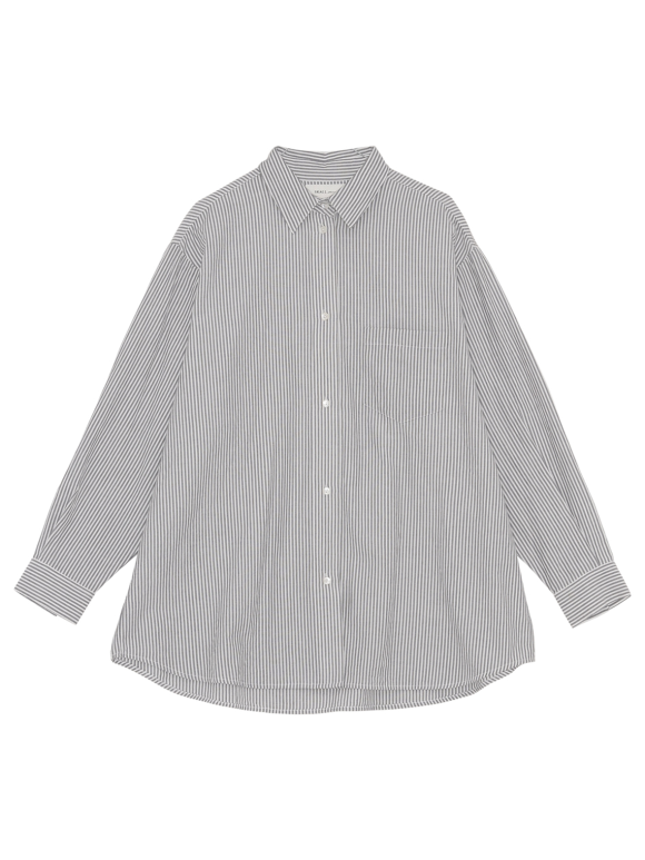Skall Studio - Edgar shirt - white/grey stripe